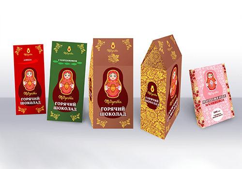 Упаковка для горячего шоколада и мороженного